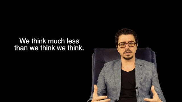 We think less than we think we think