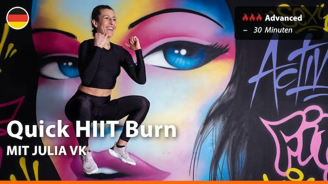 Quick HIIT Burn | 4/15/21 | Julia vK.