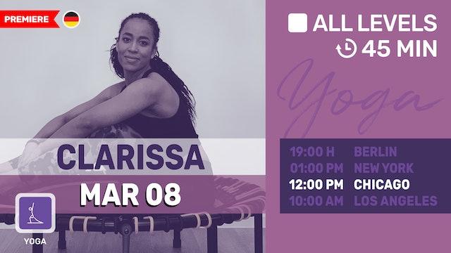 [PREMIERE] Rücken Yoga | 3/8/21 | Clarissa