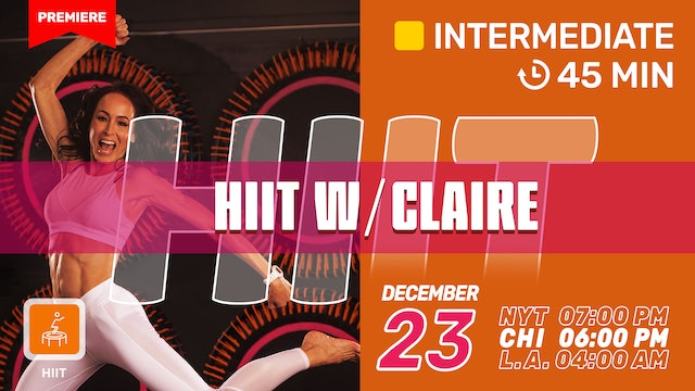 Holiday HIIT | speed. endurance. strengthening. | 12/23/20 | Claire