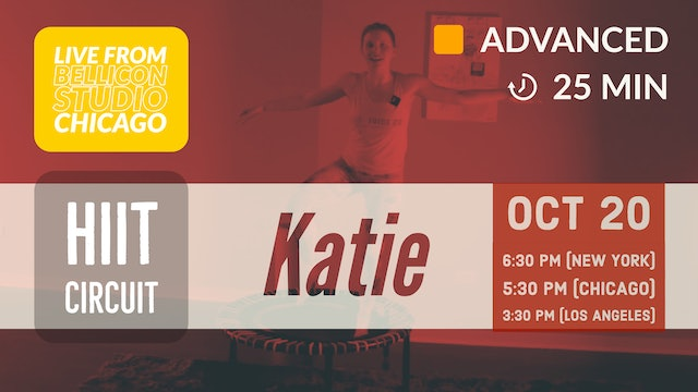 Pick Your Level Cardio HIIT: Advanced | 10/20/20 | Katie