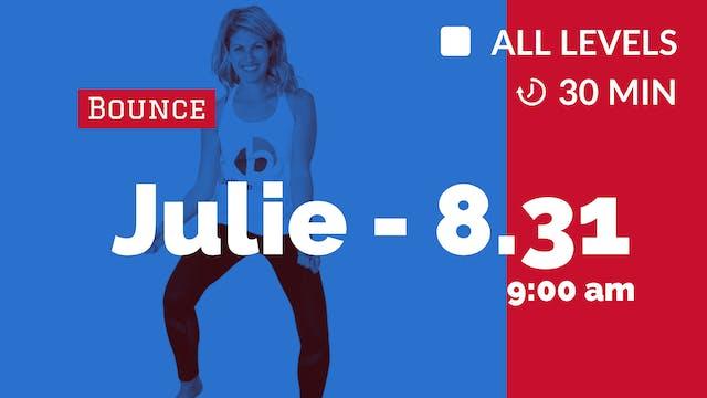 AM Yoga + Bounce | 8/31/20 | Julie