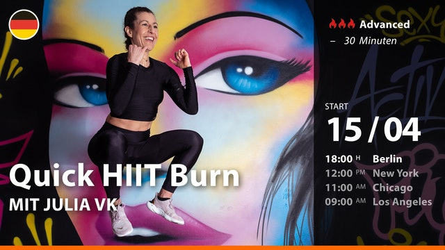 [PREMIERE] Quick HIIT Burn | 4/15/21 | Julia vK.