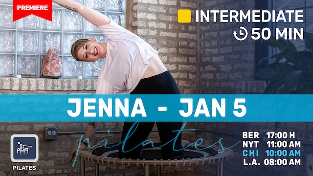 Pilates Meets Bounce Meets Massage! | 1/5/21 | Jenna