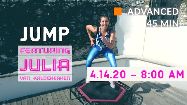 Fatburning Interval JUMPING | 4/14/20 | Julia vK.