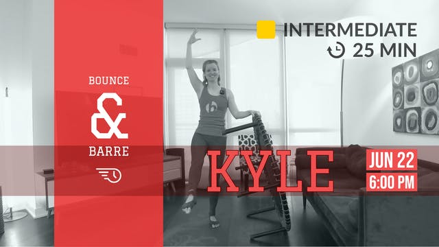 25 Minute Barre, Spar, & Bounce | 6/2...