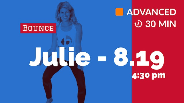 Cardio Bounce JACK ATTACK! | 8/19/20 | Julie