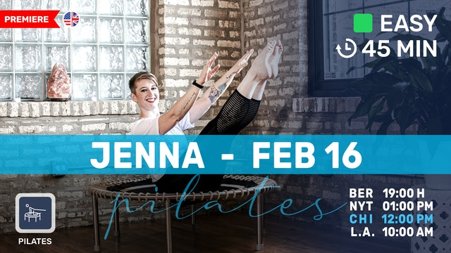 Gentle Pilates Meets Bounce | 2/16/21 | Jenna