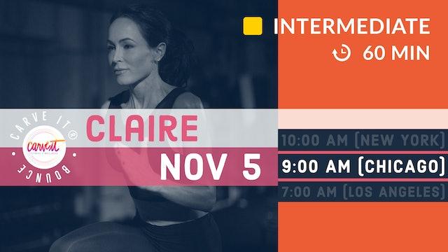 Carve It® BOUNCE | 1 hour. HIIT. Rebounding. | 11/5/20 | Claire