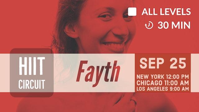 Smile While You HIIT!   9/25/20   Fayth