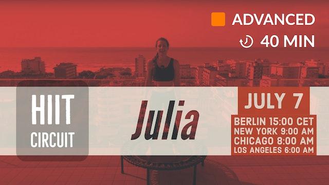 Jumping Circuit meets Tabata | 7/7/20 | Julia vK.