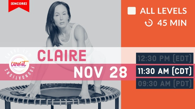 [ENCORE] Carve It® FOUNDATIONS | 11/28/20 | Claire