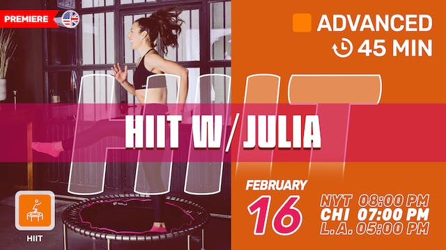 HIIT Crush | 2/16/21 | Julia