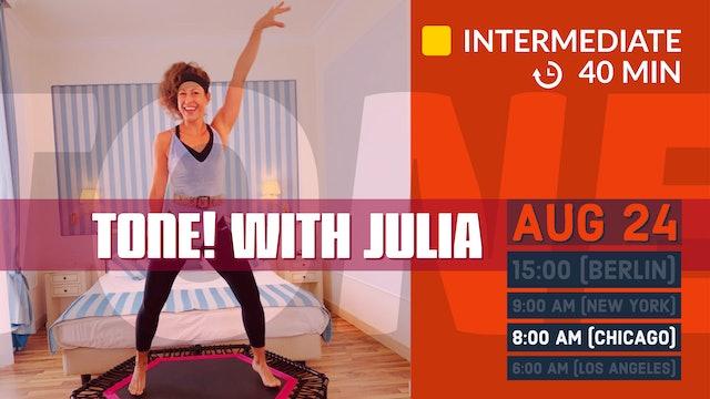 70s JANE FONDA Style Upper Body Workout | 8/24/20 | Julia