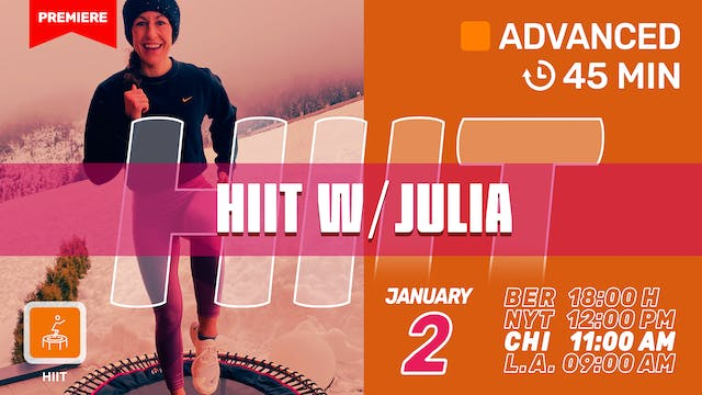 New Year HIIT | 1/2/21 | Julia