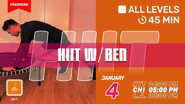 New Year's HIIT Challenge | 1/4/21 | Ben