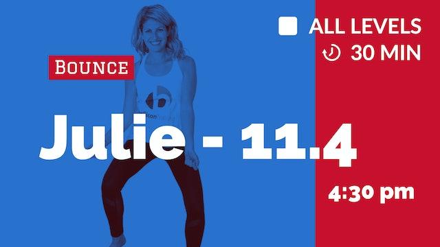 Bounce + Be Happier (30 Min.) | 11/4/20 | Julie