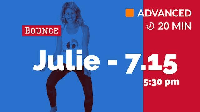 Cardio Inferno Blast! (20 minutes)   7/15/20   Julie