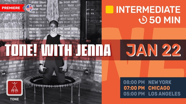 Bounce & Tone With Jenna | 1/22/21 | Jenna