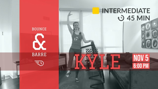 Cardio-Infused Barre (+ Bounce) | 11/5/20 | Kyle