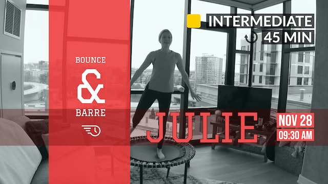 [Back in the Day] Barre + Bounce! | 11/28/20 | Julie