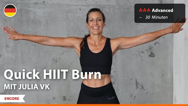 [ENCORE] Quick HIIT Burn | 7/22/21 | Julia vK.