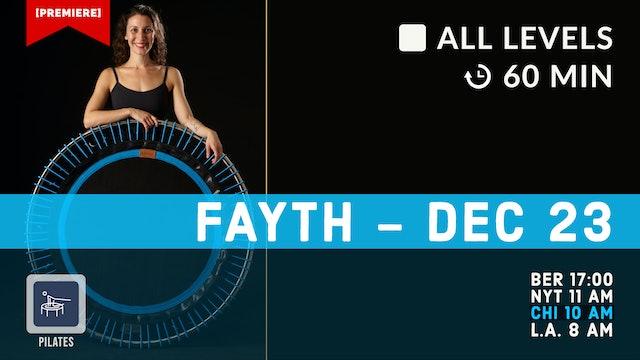 Peppermint Pilates | 12/23/20 | Fayth