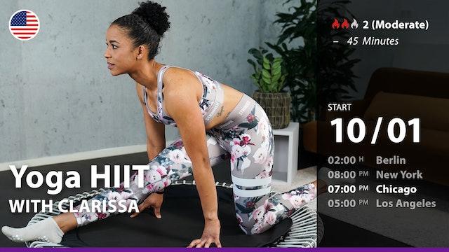 [PREMIERE] Yoga HIIT   10/1/21   Clarissa