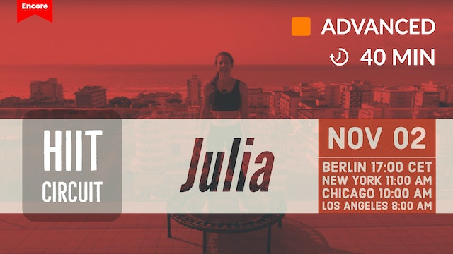 [ENCORE] ROOFTOP GARDEN TABATA POWER | 11/2/20 | Julia