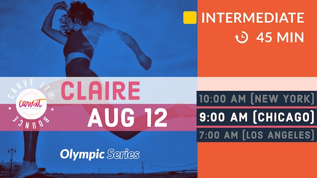 Carve It® Olympic Adventure Bounce | upper body. full-body. | 8/12/20 | Claire