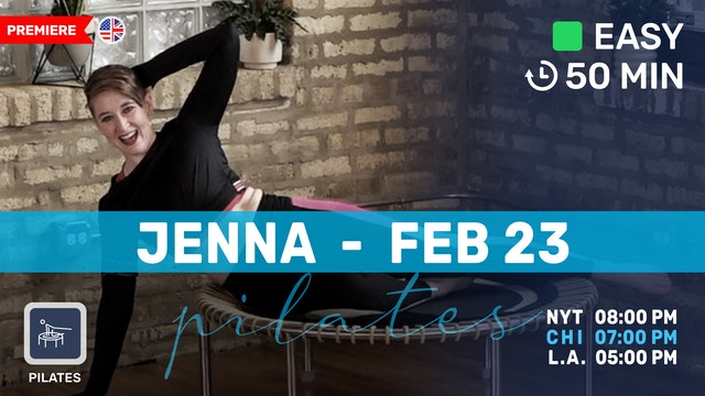 Pilates Meets Bounce Meets Band | 2/23/21 | Jenna