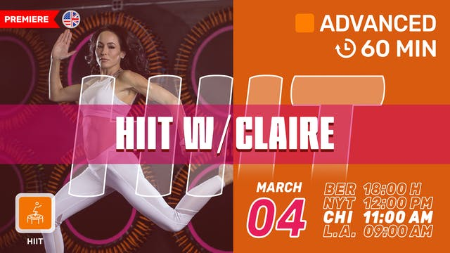 1 HR WHOLE BODY HIIT | 3/4/21 | Claire