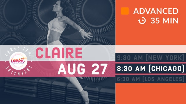Carve It® INTENSIVE | HIIT. Rebounding. Strengthening. | 8/27/20 | Claire