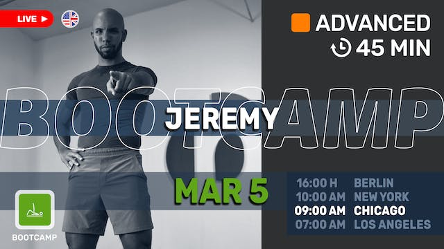 Lower Body Bootcamp! | 3/5/21 | Jeremy