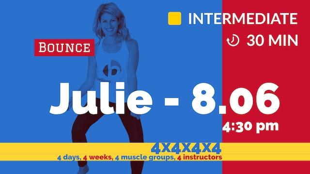 4x4x4x4 Challenge: Week 3 - Sleek Legs | 8/6/20 | Julie