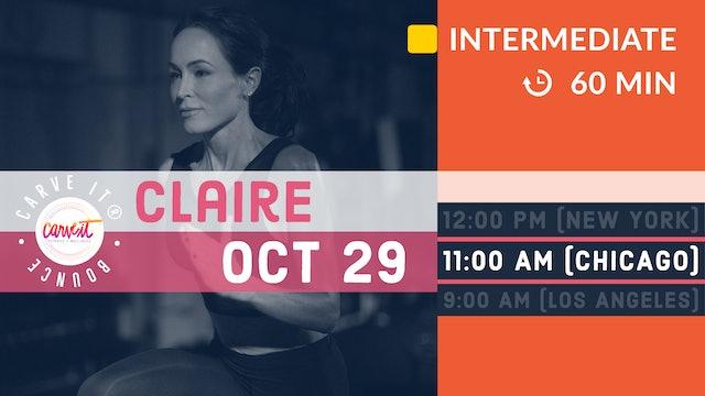 Carve It® BOUNCE | 1 hour. HIIT. Rebounding. | 10/29/20 | Claire