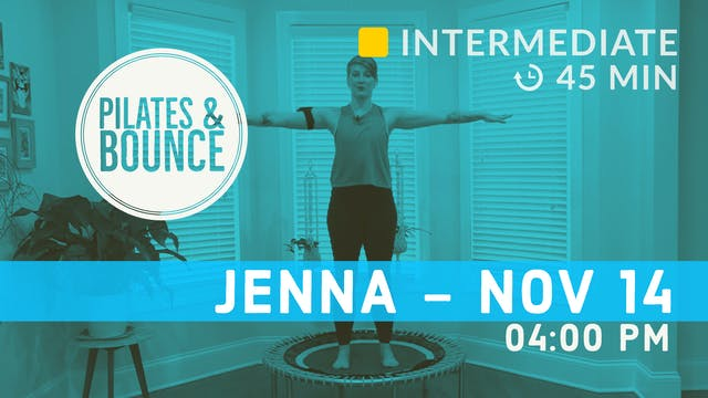 Pilates Meets Bounce | 11/14/20 | Jenna