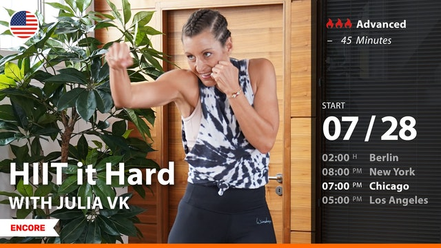 [ENCORE] HIIT it Hard | 7/28/21 | Julia vK.