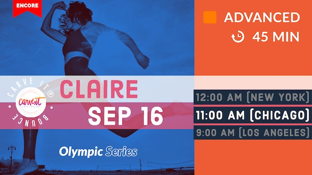 [ENCORE] Carve It® Olympic Adventure Bounce | lower body | 9/16/20 | Claire