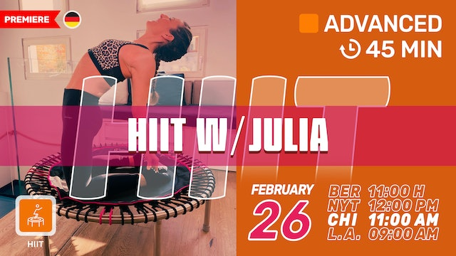 [PREMIERE] HIIT Power | 2/26/21 | Julia