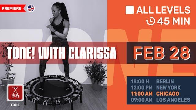 TONE YOUR LEGS | 2/28/21 | Clarissa