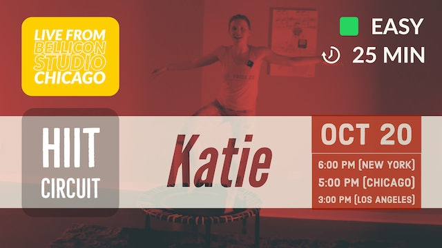 Pick Your Level Cardio HIIT: Beginner | 10/20/20 | Katie
