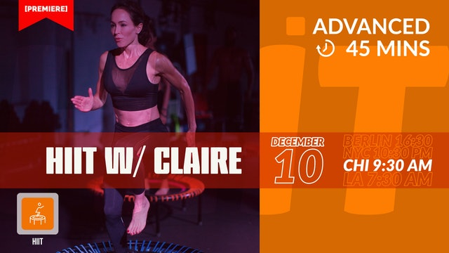 HIIT | fast-paced. fun. fit. | 12/10/20 | Claire