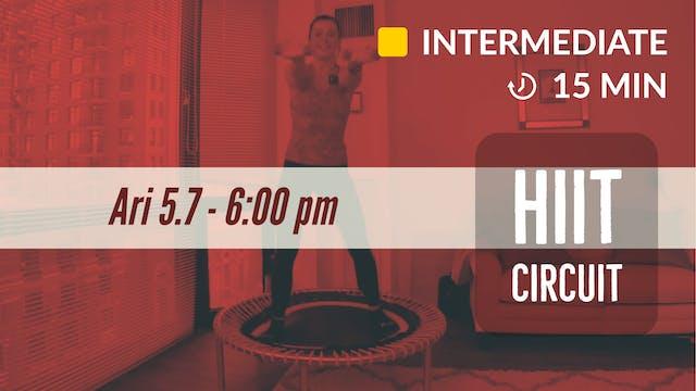 15min HIIT | 5/7/20  | Ari