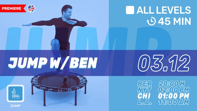 [PREMIERE] JUMPING FITNESS | 3/12/21 | Ben