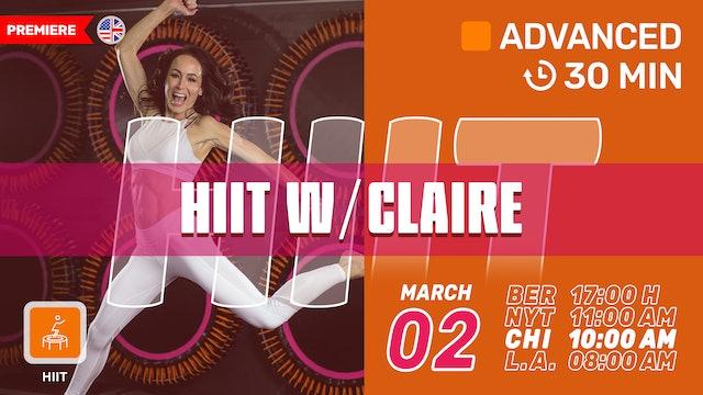 30 MIN. CARDIO + CORE BURNER | 3/2/21 | Claire