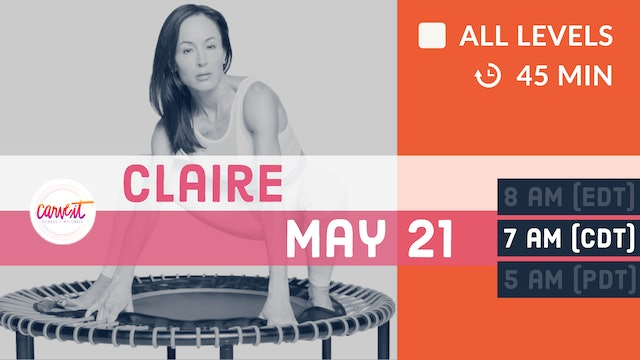 Carve It® Signature Rebounding Class  - FOUNDATIONS | 5/21/20 | Claire