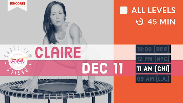 Carve It® BASICS rebounding. progressions. form. | 12/11/20 | Claire