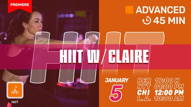 HIIT New Year. New You. | 1/5/21 | Claire