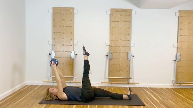 Express Pilates Mat Workout with Ball...